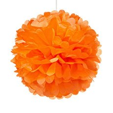 Small Paper Pom Pom - Orange