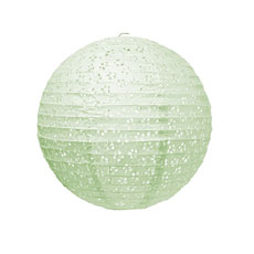 Small Eyelet Paper Lantern - Pale Green