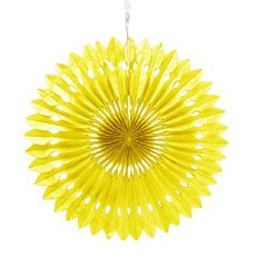 Paper Pinwheel Decor - Yellow