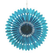 Paper Pinwheel Decor - Peacock Blue