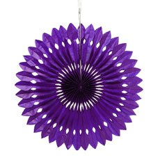 Paper Pinwheel Decor - Grape