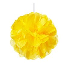 Mini Paper Pom Pom - Sunflower