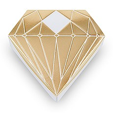 Diamond Favor Box with Metallic Gold