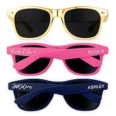 Bridal Party Personalized Sunglasses For Bachelorette