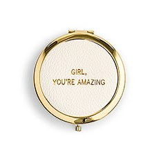 4452 f d01 w compact mirror with girl youre amazing faux leather detail001fc1751e1d008122b0d4a11810ff0a
