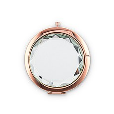 Personalized Jewel Compact Mirror Gift - Crystal Clear