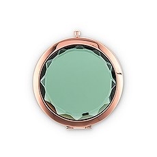 Personalized Jewel Compact Mirror Gift - Emerald Green
