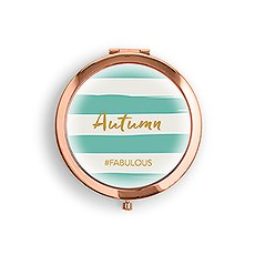 Designer Compact Mirror - Striped Print