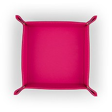 Vegan Leather Jewelry Tray– Medium Solid Fuchsia Pink