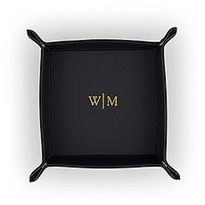 Vegan Leather Jewellery Tray - Line Monogram Emboss