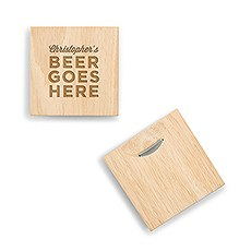 4497 p 8499 106 w natural wood coaster with built in bottle opener beer goes here etching2434aa8607bff1bf96106ec650b71a4e