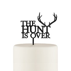 The Hunt Is Over Acrylic Cake Topper - Black