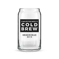 Personalized Can Shaped Drinking Glass – Cold Brew Print