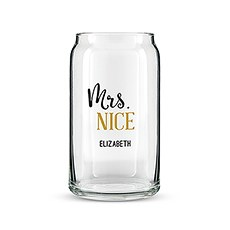 Personalized Can Shaped Drinking Glass – Mrs. Nice Print