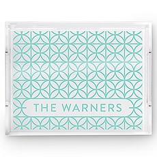 Rectangular Acrylic Tray - Summer Vibes Print
