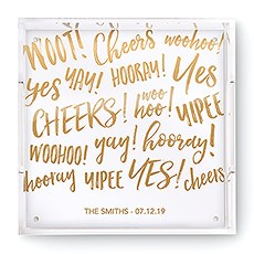 Square Acrylic Tray - Celebration Sparkle Foiled Print
