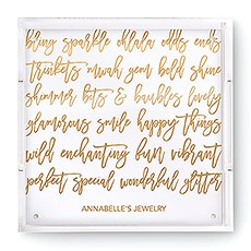 Small Personalized Square Acrylic Tray – Gold Happy Scribbles Foil Print