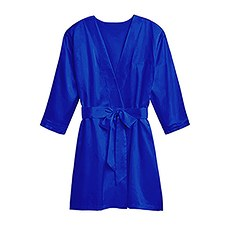 Premium Silky Kimono Robe With Pockets - French Blue