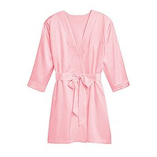 Premium Silky Kimono Robe With Pockets - Light Pink