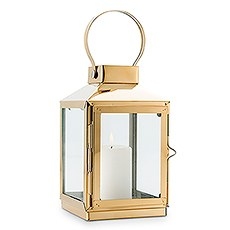Medium Decorative Candle Lantern - Gold