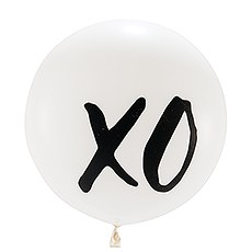 "Extra Large 36"" White Round Wedding Balloons - XO - Set of 3"