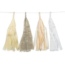 Tissue Paper Tassel Garland - Pastel Assortment