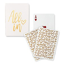 Gold Foil All In Playing Cards