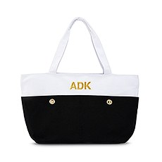 4565 10 w large black and white canvas tote bage4e86be210597b4f1ebb25e35790f7af