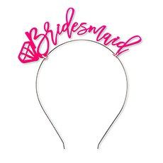 "Bachelorette Party Headband - ""Bridesmaid"""
