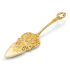 Small Gold Cake or Pie Server