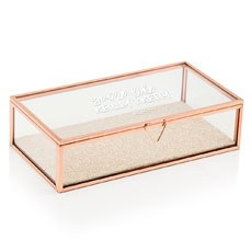Personalized Glass Jewelry Box - You're Like Really Pretty Printing
