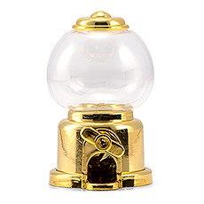Mini Gumball Machine Party Favor - Gold (2)