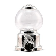 Mini Gumball Machine Party Favor - Silver (2)
