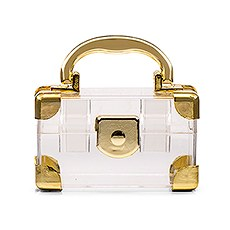 Mini Travel Suitcase Favor Box - Gold (2)