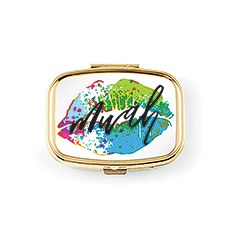 Mwah Small Gold Pocket/Purse Pill Box