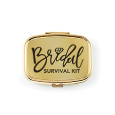 Bridal Survival Small Gold Pocket/Purse Pill Box