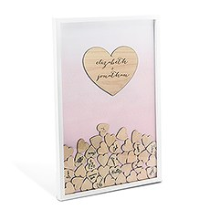 Aqueous Wedding Drop Box Guest Book with Hearts