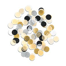Mixed Metallics Jumbo Party Tissue Confetti - Gold, Silver, Black