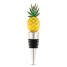 Yellow Pineapple Bottle Stopper