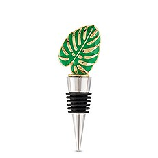 Green Tropical Leaf Bottle Stopper