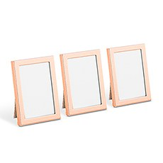 Mini Easel Back Photo Frame Set - Rose Gold
