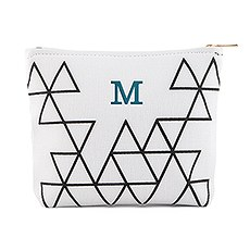 Small Personalized Makeup Bag for Women- Geo Print