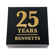 Premium Gift Box - Anniversary Years in Metallic Gold