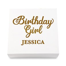 Premium Gift Box - Birthday Girl in Metallic Gold