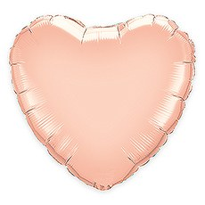 "Mylar Foil Helium Party Balloon Decoration - 36"" Rose Gold Heart"