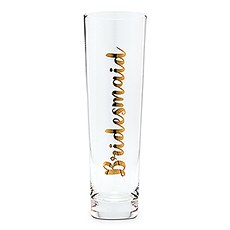 Bridesmaid Champagne Flute - Metallic Gold