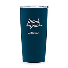 Stainless Steel Insulated Travel Mug - Thank You Heartbeat