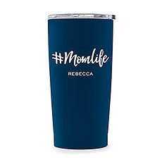 Stainless Steel Travel Mug - Mom Life Printing