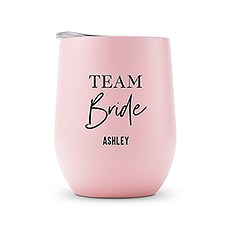 Personalized Stemless Travel Tumbler - Team Bride