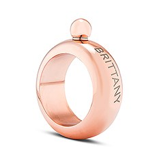 Personalized Bracelet Bangle Flask - Rose Gold